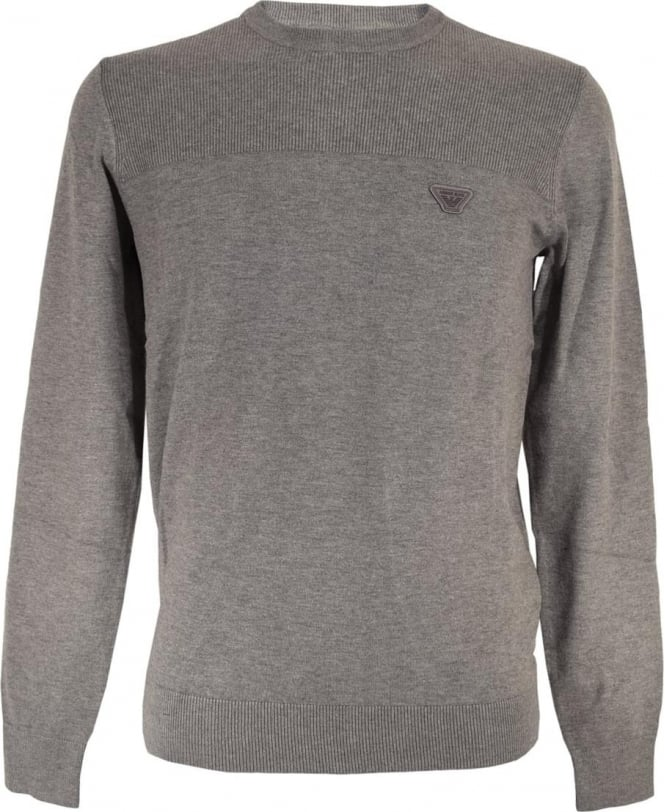 Armani Grey 6X6MA3 6MOIZ Crew Neck Jumper