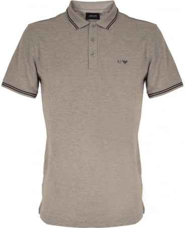 Armani Jeans Grey 8N6F2B Short Sleeve Polo Shirt