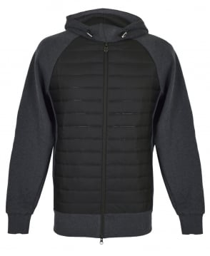 Colmar Originals Grey And Black Cybernetic Bubble Hooded Sweatshirt