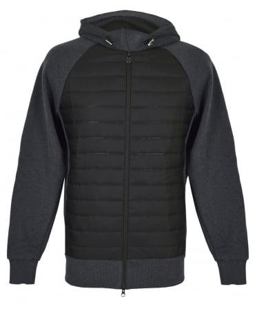 Colmar Originals Grey And Black Cybernetic Bubble Hooded Sweatshirt