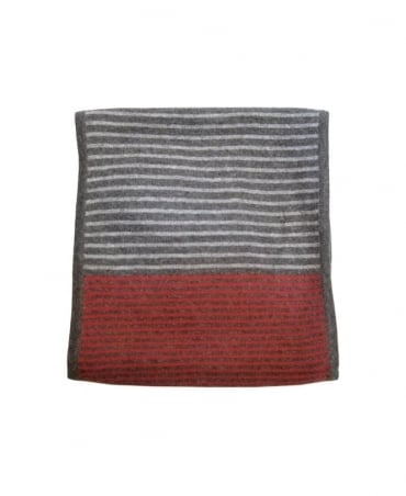 Paul Smith - Accessories Grey and Red Striped Scarf