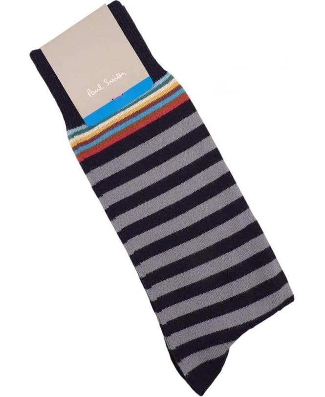 Paul Smith - Accessories Grey APXA-380A-F602 Multi Top Socks