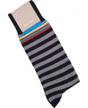 Paul Smith  Grey APXA-380A-F602 Multi Top Socks