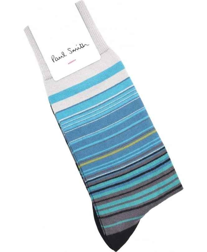 Paul Smith Grey ARXC-380A-F961 Higgle Stripe Socks
