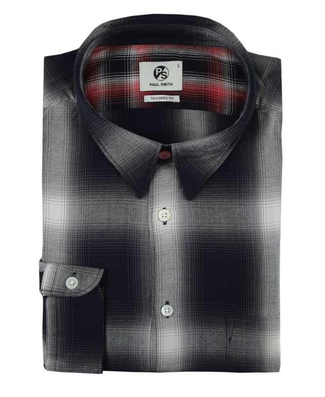 e4c5f0c93cf199 PS Paul Smith PS Paul Smith Grey & Black Check Shirt