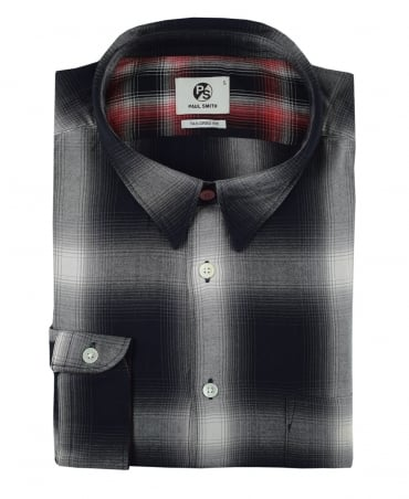 PS By Paul Smith Grey & Black Check Shirt