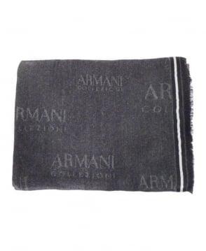 Armani Collezioni Grey/Black Collezioni Scarf