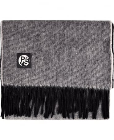 PS By Paul Smith Grey & Black 'Half & Half' Scarf