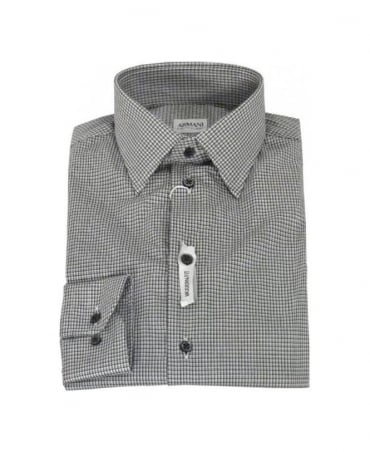 Armani Collezioni Grey & Black Modern Fit Shirt