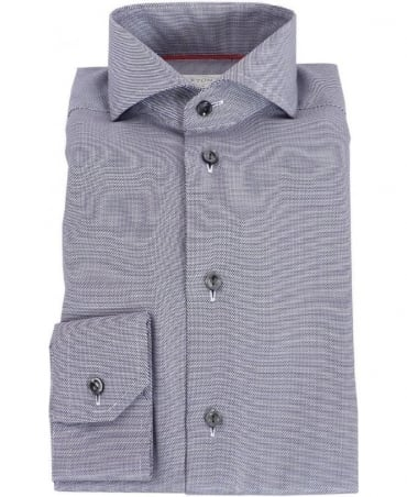 Eton Shirts Grey & Black Slim Fit Shirt