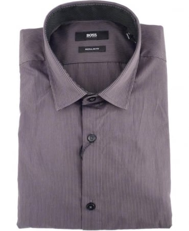 Hugo Boss Grey & Black Stripe Lando Shirt
