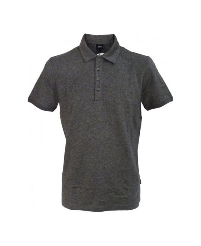 Hugo Boss Grey Bugnara Regular Fit Polo