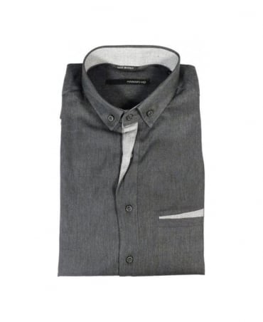 Grey Button Down Collar Shirt