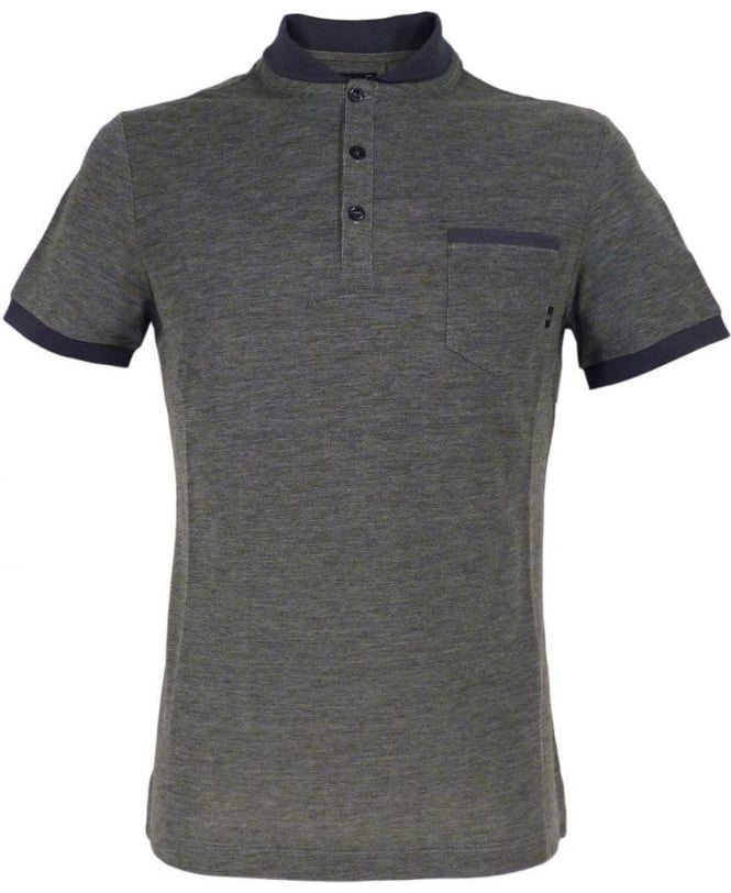 Armani Jeans Grey C6M90QF Short Sleeve Polo Shirt