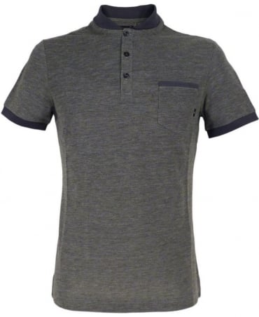 Armani Grey C6M90QF Short Sleeve Polo Shirt