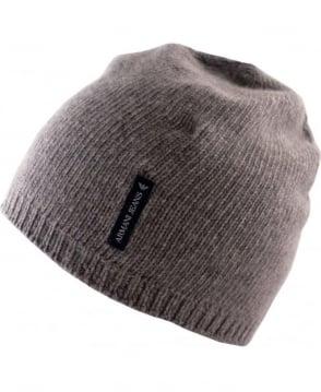 Armani Grey Cashmere 06483D6 Hat