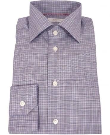 Eton Shirts Grey Check 37647951127 York Slim Fit Shirt