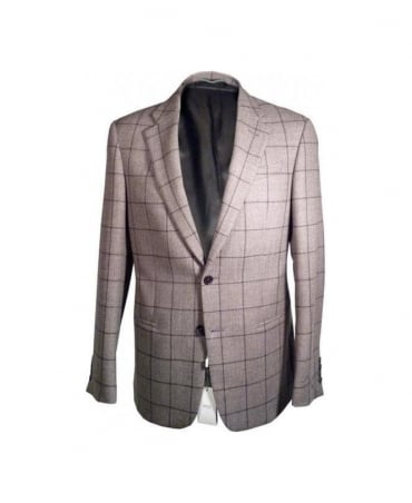 Grey Check Single Breasted Jacket