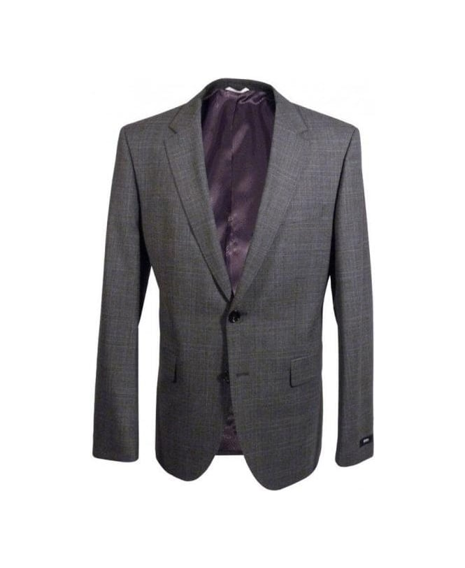 5dc2cd232 Boss Grey Check The James 4/Sharp 6 Suit - Suits from Jonathan ...