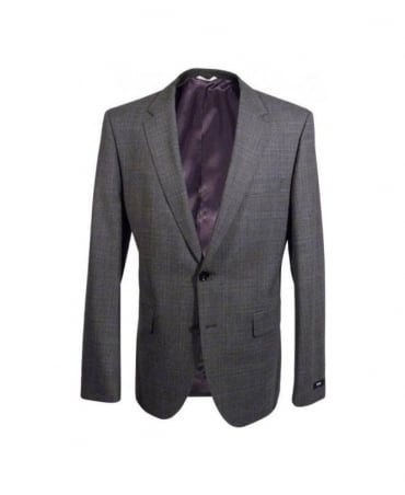 Hugo Boss Grey Check The James 4/Sharp 6 Suit