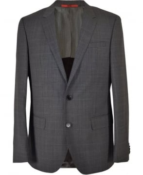 Hugo Grey Chic Tartan C-Genius/WE 3 Piece Suit