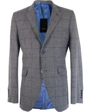 Holland Esq Grey Classic Window Pane Jacket