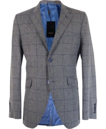 Holland Esquire Grey Classic Window Pane Jacket