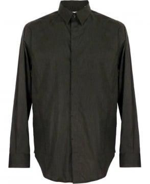 Armani Collezioni Grey Concealed Button Formal Collezioni Shirt