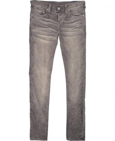 True Religion Grey Corduroy Rocco Skinny Jeans