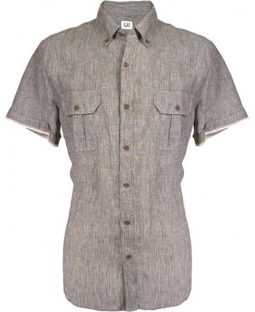 CP Company Grey Corta 064001660 Slim Fit Shirt