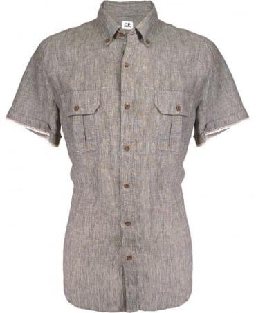 CP Company Grey Corta 064001660 Slim Fit Shirt