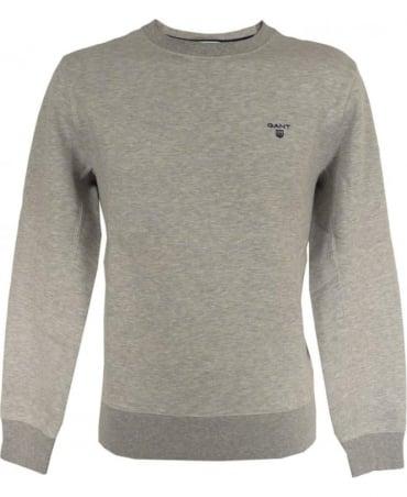 Gant Grey Crew Contrast Logo Sweatshirt