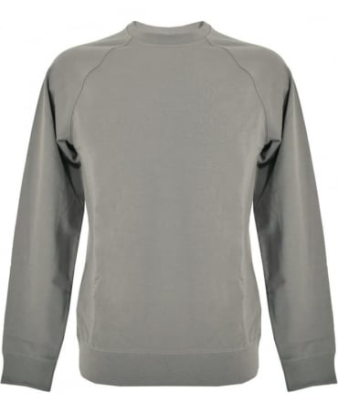 Armani Jeans Grey Crew Neck Chest Print Sweatshirt