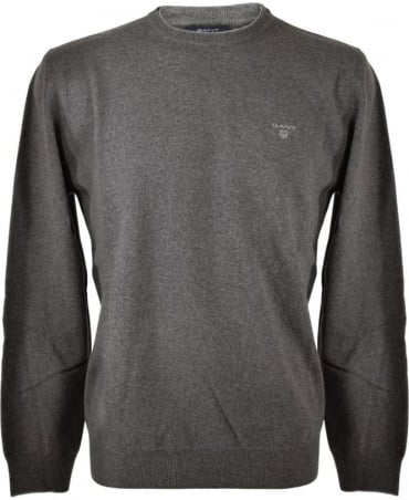 Gant Grey Crew Neck Knitwear Jumper