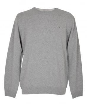 Gant Grey Crew Neck Lambswool Sweater