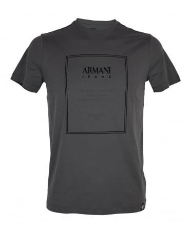 Armani Jeans Grey Crew Neck T-Shirt