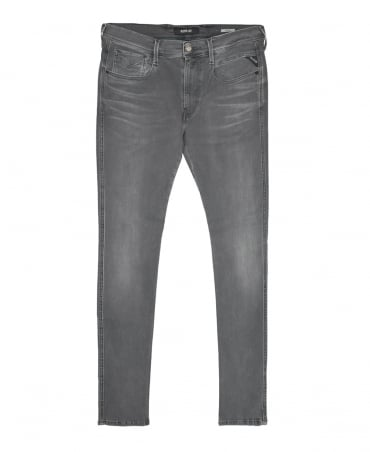 Replay Grey Denim Anbass Hyperflex Jeans