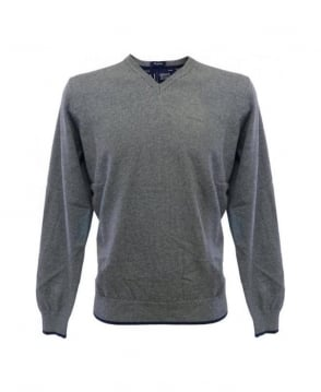 Armani Jeans Grey Elbow Patch Knitwear U6W84