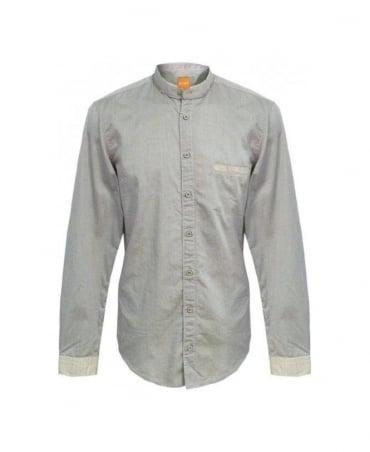 Hugo Boss Grey Emixe Contrast Trim 50259368 Shirt