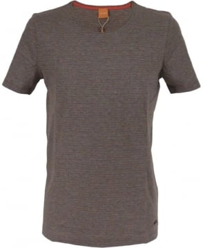 Hugo Boss Grey Fine Striped Pattern 'Typicco' T/Shirt