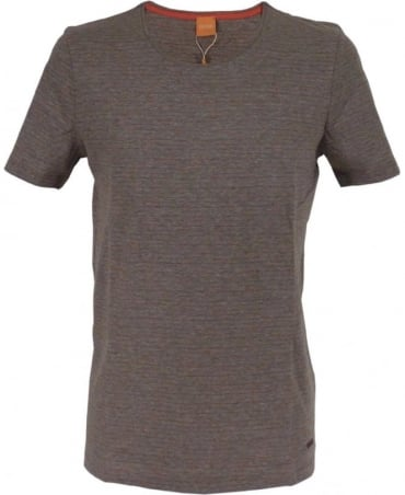 Hugo Boss Grey Fine Striped Pattern 'Typicco' T/Shirt