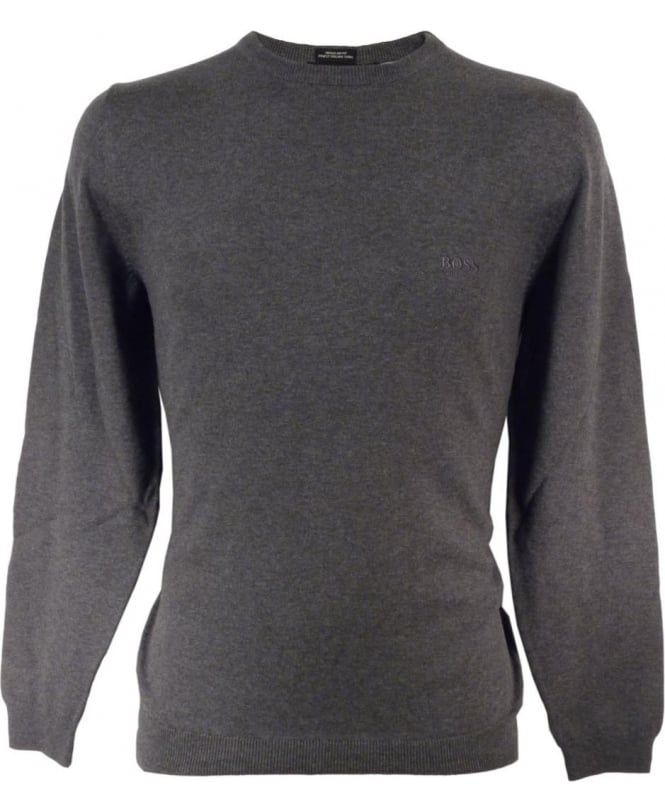 Hugo Boss Grey 'Finello' 50302547 Crew Neck Knit