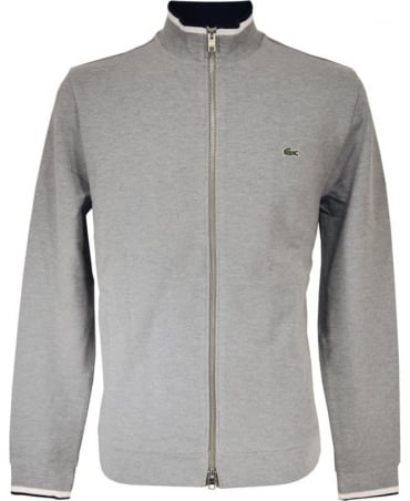 Lacoste Grey Full Zip Sweatshirt