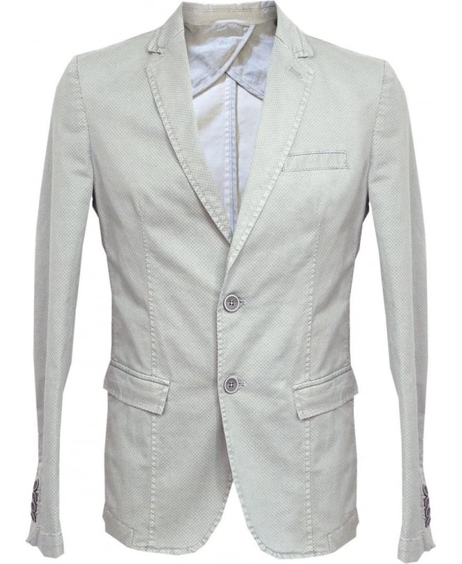 Hamaki-Ho Grey GA519H Patterned Two Button Jacket