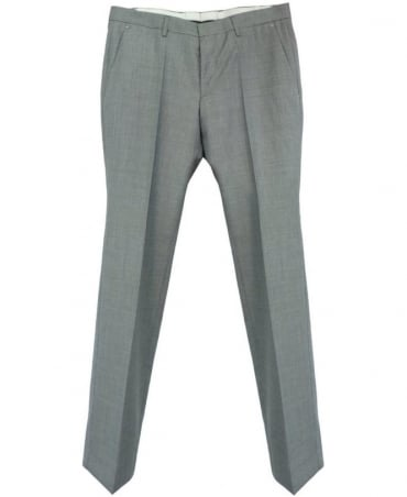 Hugo Boss Grey Genesis2 Wool And Cashmere Trousers