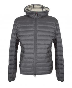 Colmar Originals Grey Ghost Down Jacket With Fixed Hood