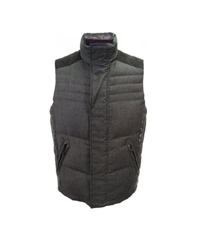 Hugo Boss Grey & Green Reversible Gilet