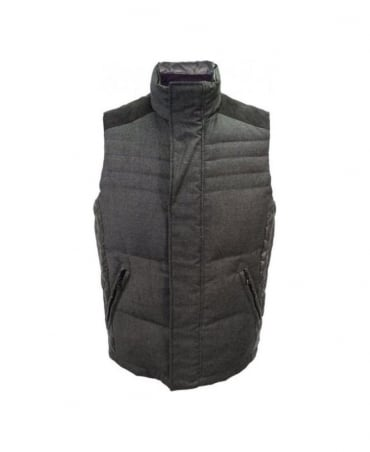 Grey & Green Reversible Gilet