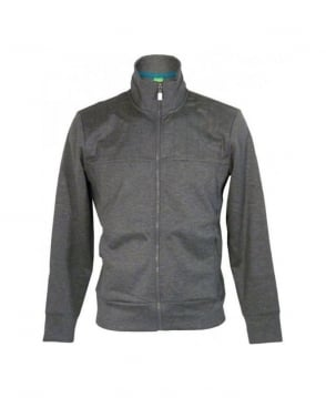 Hugo Boss Grey & Grey Font Full Zip Sweatshirt