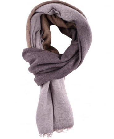 Grey Hand Dyed Wool Blend Scarf